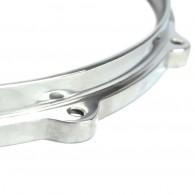 """Par de Aros Die Cast de Alumínio Polido 3,5mm com 10"""" e 6 Furos para Caixas"""